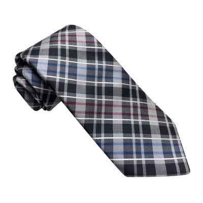 Stafford Stf Plaid Spinner Plaid Tie