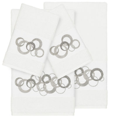 Linum Home Textiles 100% Turkish Cotton Annabelle 4PC Embellished Towel Set