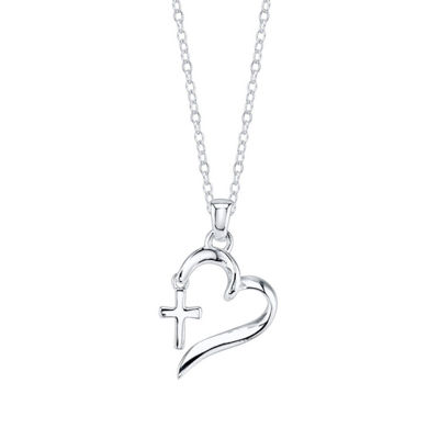 Footnotes Womens Heart Pendant Necklace