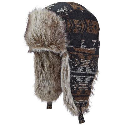 Woolrich Mens Pattern Trapper Hat