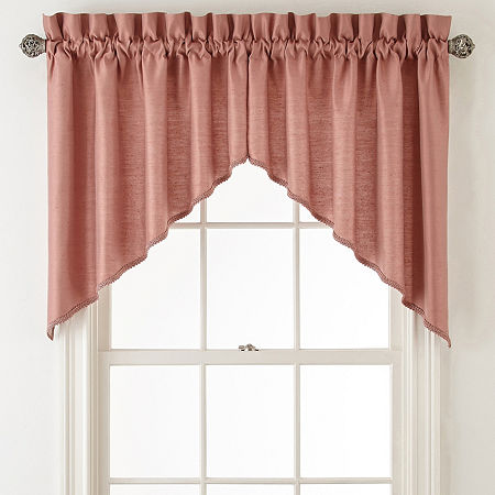 JCPenney Home Supreme Rod-Pocket Shaped Valance, One Size , Pink