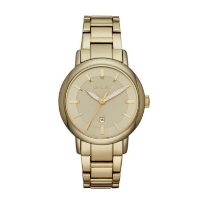 Relic Womens Gold Tone Bracelet Watch-Zr12561