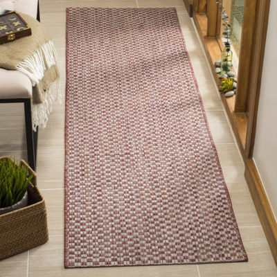 Safavieh Courtyard Collection Blanca Geometric Indoor/Outdoor Runner Rug