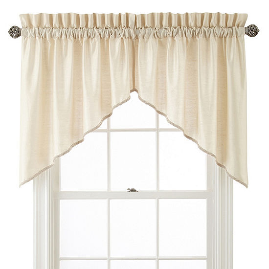 JCPenney Home Supreme Rod-Pocket Shaped Valance