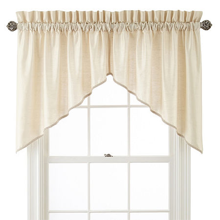 JCPenney Home Supreme Rod-Pocket Shaped Valance, One Size , White