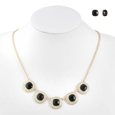 Monet Jewelry Black Gold Tone 3-pc. Jewelry Set