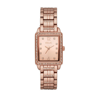 Relic Womens Rose Goldtone Bracelet Watch-Zr34513