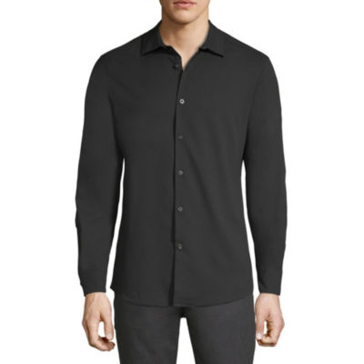 Axist Mens Long Sleeve Button-Front Shirt