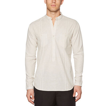 1920s Men's Dress Shirts, Casual Shirts Cubavera Mens Long Sleeve Popover Xx-large  White $33.74 AT vintagedancer.com