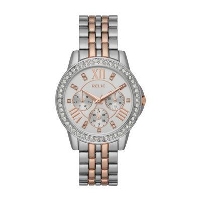 Relic Womens Two Tone Bracelet Watch-Zr15940