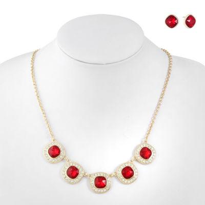Monet Jewelry Womens 3-pc. Red Jewelry Set