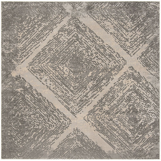 Safavieh Meadow Collection Myrtle Geometric Square Area Rug