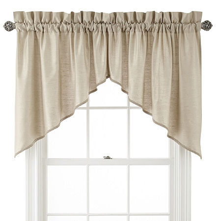 JCPenney Home Supreme Rod-Pocket Shaped Valance, One Size , Beige