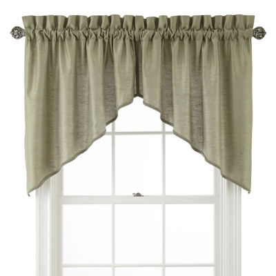 JCPenney Home Supreme Rod-Pocket Swag Valance