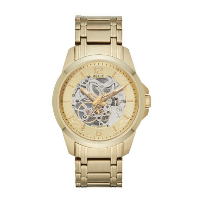 Relic Mens Gold Tone Bracelet Watch-Zr12567