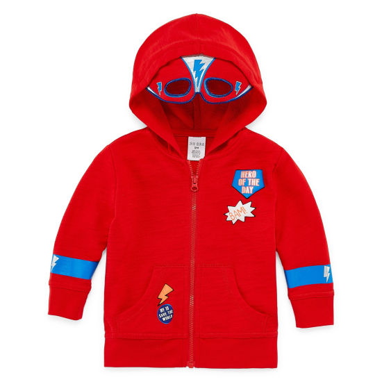 Okie Dokie Super Hero Mask Hoodie - Baby Boy NB-24M
