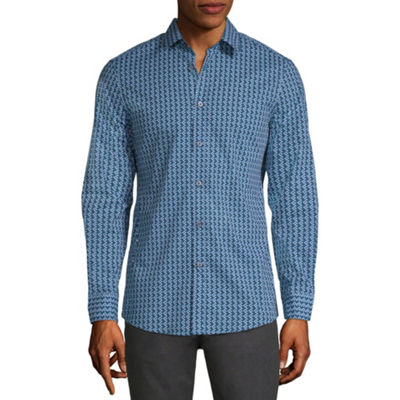 Axist Long Sleeve Geometric Button-Front Shirt