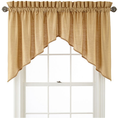 JCPenney Home Supreme Rod-Pocket Shaped Valance, One Size , Yellow