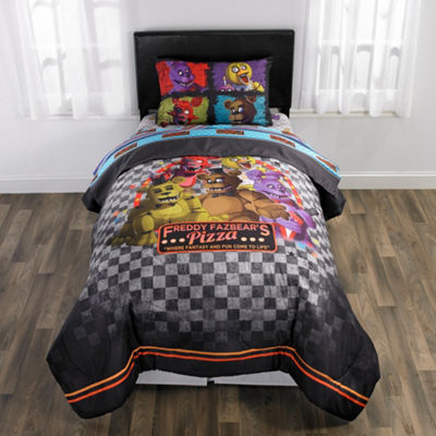 Scott Games Five Nights At Freddys 5-pc. Reversible Comforter Set