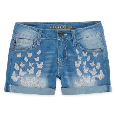 Vgold Denim At Waist Shortie Shorts - Big Kid Girls