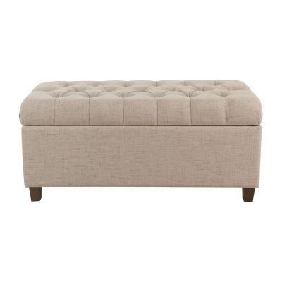 HomePop Ainsley Button Tufted Storage Bench