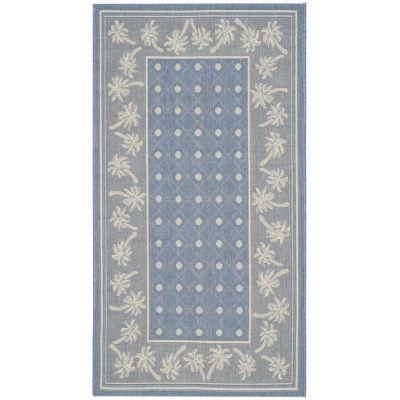 Safavieh Courtyard Collection Moema Floral Indoor/Outdoor Area Rug