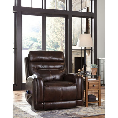 Signature Design By Ashley® Ailor Leather Power Recliner