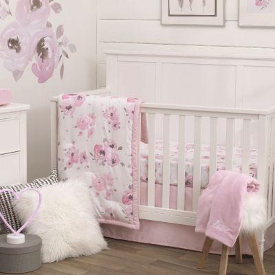 Nojo Watercolor Floral 4-pc Crib Bedding Set