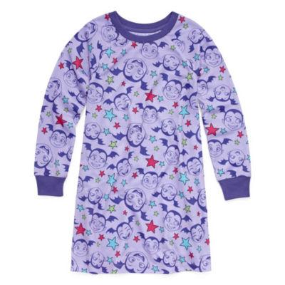 Disney Girls Jersey Nightshirt Long Sleeve Round Neck