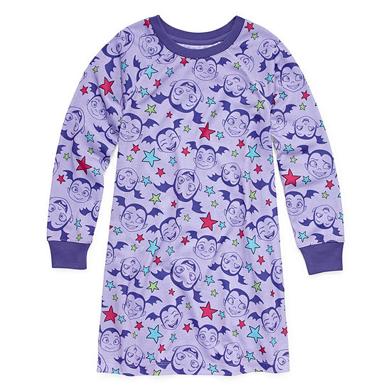 Disney Collection Vampirina Girls Nightshirt Long Sleeve Round Neck