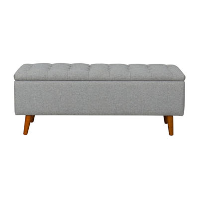 HomePop Arlington Storage Bench with Button Tufting
