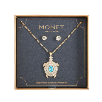 Monet Jewelry Turtle Blue Gold Tone 2-pc. Jewelry Set
