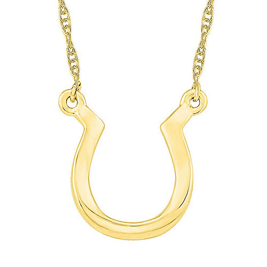 Womens 10K Gold Pendant Necklace