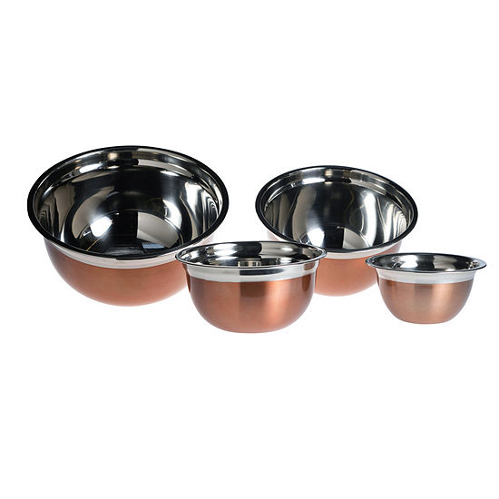 Basic Essential Stainless Steel Colors 4-pc. Prep Bowl