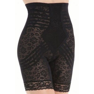 Rago Plus High-Waist Lacette Invisinet Panel Stretch-Lace Extra Firm Control Thigh Slimmers - 6207p