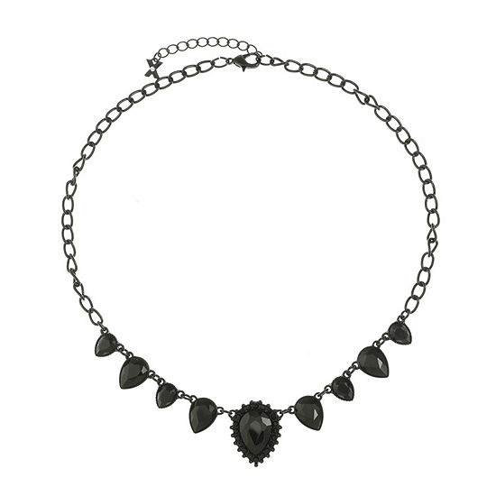 Mixit Black 18 Inch Cable Collar Necklace