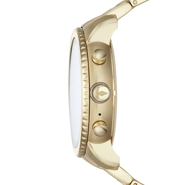 Fossil Q Unisex Gold Tone Smart Watch-Ftw4010