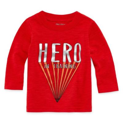 Okie Dokie Super Hero Long Sleeve T-Shirt-Baby Boy NB-24M