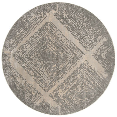 Safavieh Meadow Collection Myrtle Geometric Round Area Rug