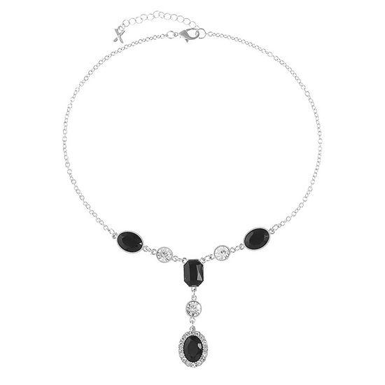 Mixit Black 17 Inch Cable Y Necklace
