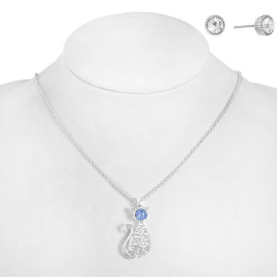 Monet Jewelry Womens 2-pack Blue Jewelry Set