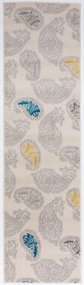 World Rug Gallery Contemporary Modern Floral Paisley Pattern Runner Rug