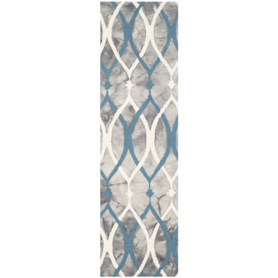Safavieh Dip Dye Collection Harlan Geometric Runner Rug