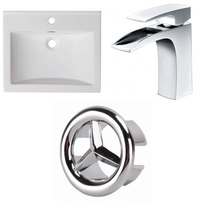 21-in. W 1 Hole Ceramic Top Set In White Color - CUPC Faucet Incl.