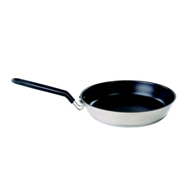 Stansport 10-Inch Stainless Non-Stick Coated Camping Fry Pan with Folding Handle