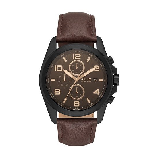Relic By Fossil Mens Brown Bracelet Watch-Zr15946