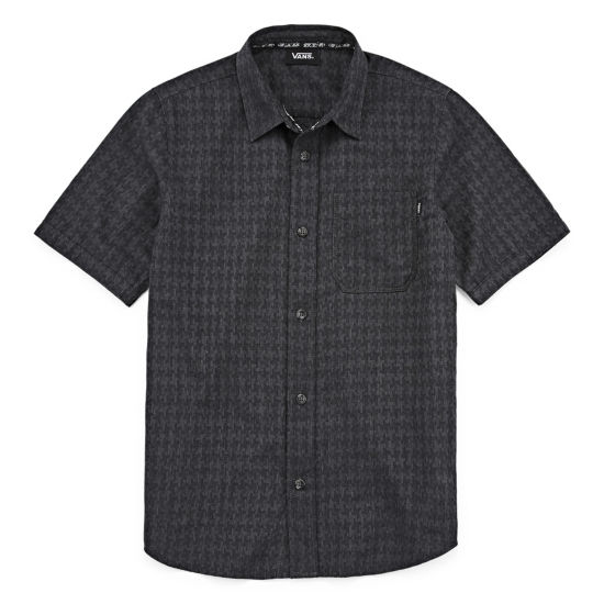 Vans Short Sleeve Button-Front Shirt- Big Kid Boys