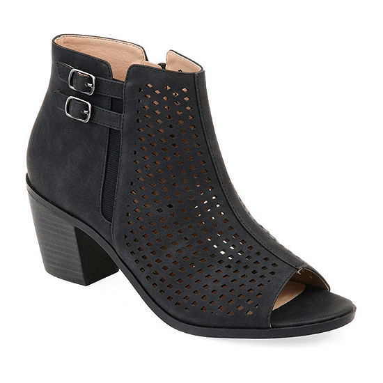 Journee Collection Womens Harlem Booties Stacked Heel