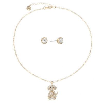Monet Jewelry Womens 2-pack Brown Jewelry Set