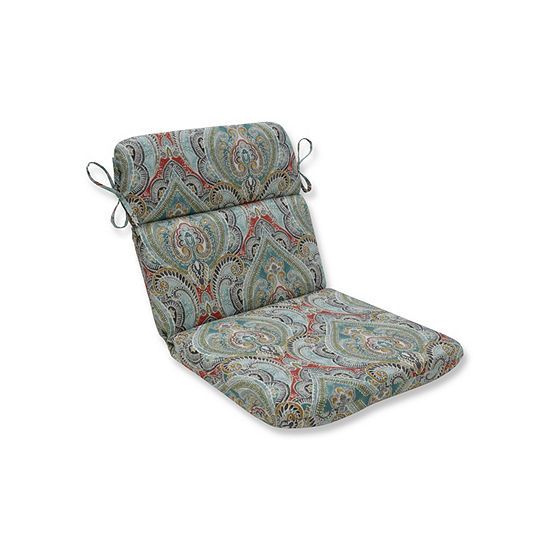 Pillow Perfect Pretty Witty Reef Rounded Corners Patio Chair Cushion